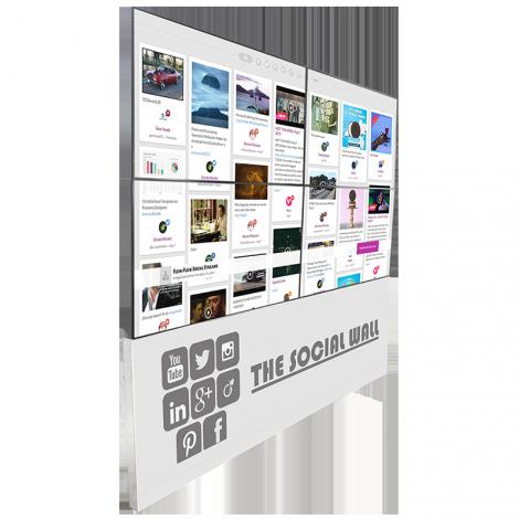 """Mur d'écrans 4x55"""" - Support aluminium"""